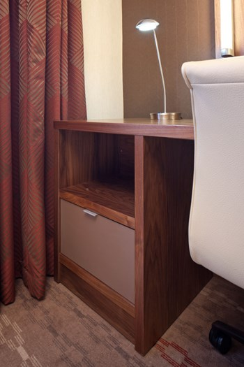 Bespoke hotel bedroom desk