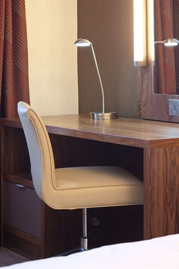 Hotel bedroom desk