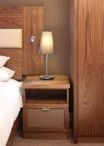 Bespoke hotel bedside cabinet