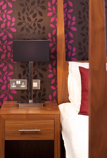 Boleyn Hotel bedside