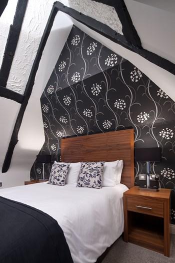 Boleyn Hotel headboard and bedside cabinet