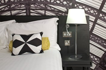 Hotel Indigo headboard and bedside