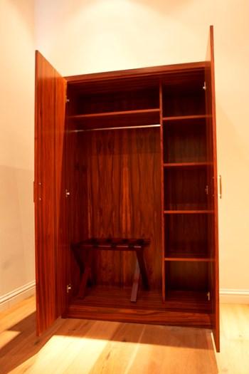 Black Swan hotel bedroom wardrobe