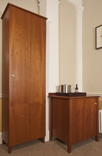 Bronte wardrobe and mini bar unit