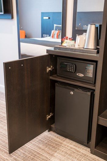 Safe and mini bar unit