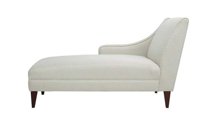 Willoughby contract chaise - side view