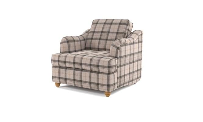 Chesterton arm chair button back - Highland grey