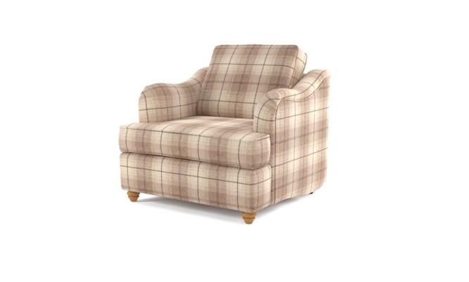 Chesterton arm chair plain back - Highland cream