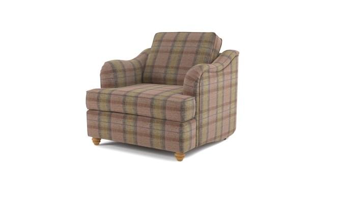 Chesterton arm chair plain back - Olive