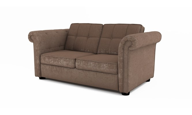 Edgemoor 2 seater button back - Toulouse fudge