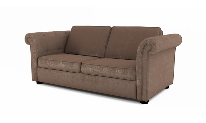 Edgemoor 3 seater plain back - Toulouse fudge
