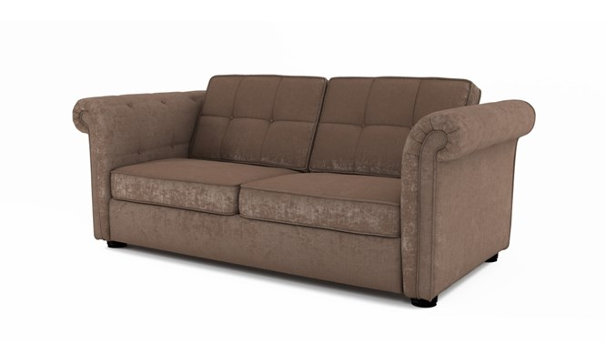 Edgemoor 3 seater button back - Toulouse fudge