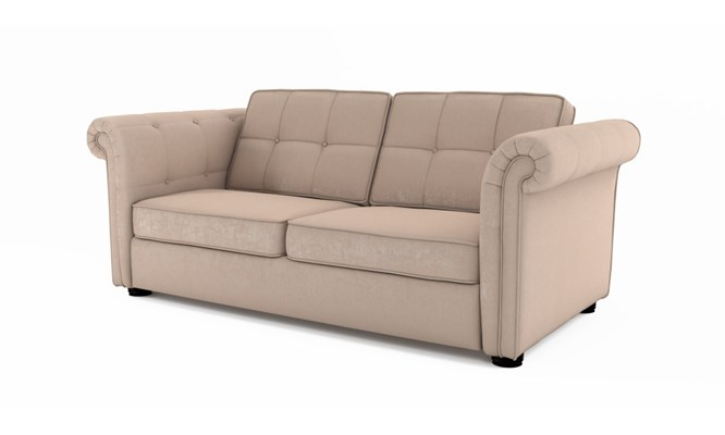 Edgemoor 3 seater button back - Toulouse stone
