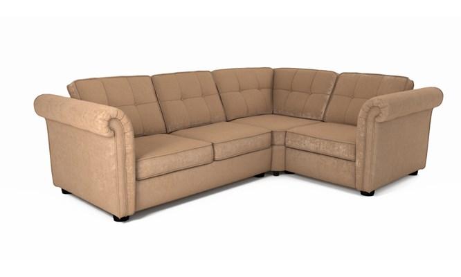 Edgemoor corner sofa button back - Toulouse linen