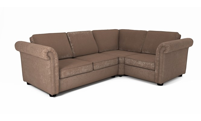 Edgemoor corner sofa plain back - Toulouse fudge