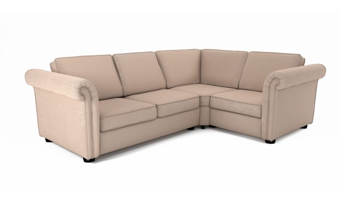 Edgemoor corner sofa plain back - Toulouse stone
