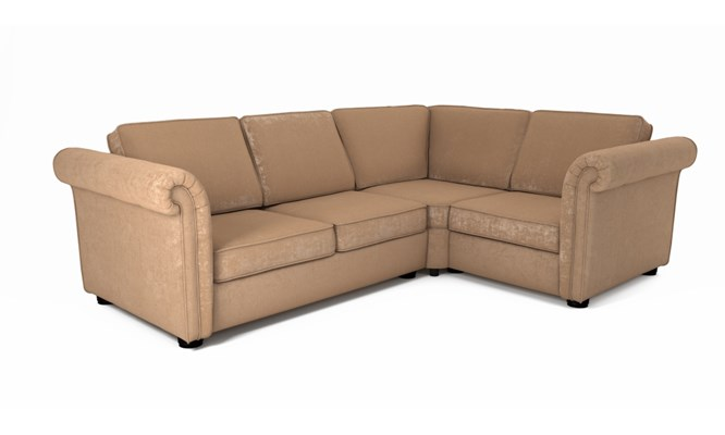 Edgemoor corner sofa plain back - Toulouse linen