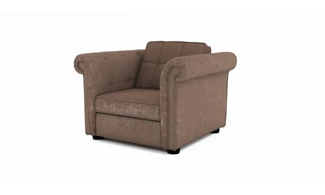 Edgemoor arm chair button back - Toulouse fudge