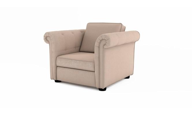 Edgemoor arm chair plain back - Toulouse linen
