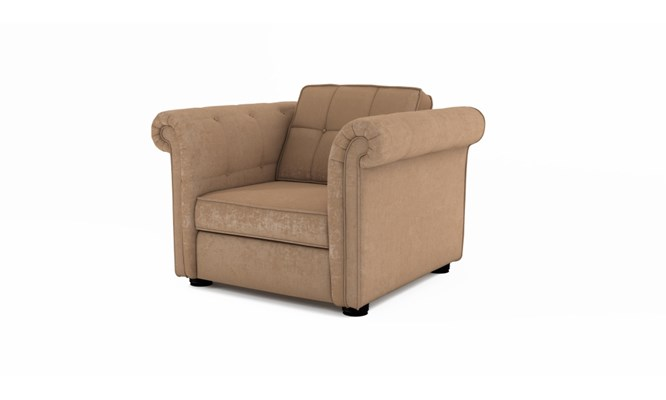 Edgemoor arm chair button back - Toulouse linen