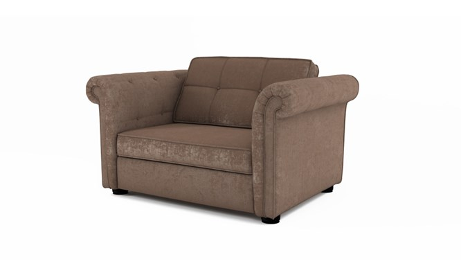 Edgemoor chair bed button back - Toulouse fudge