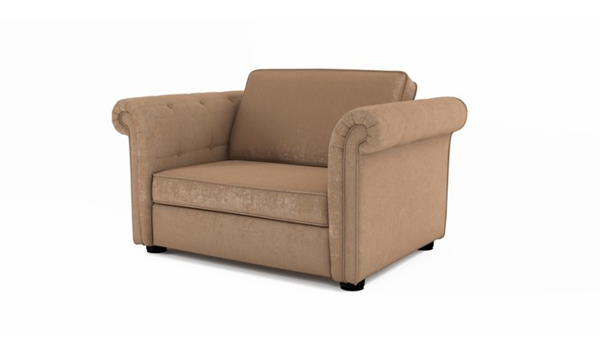Edgemoor chair bed plain back - Toulouse linen