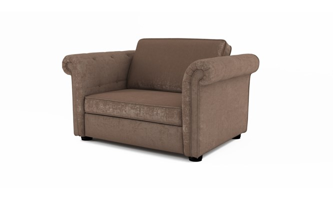 Edgemoor chair bed plain back - Toulouse fudge