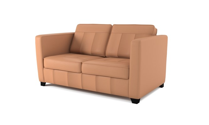 Greenwich 2 seater plain back - whiskey