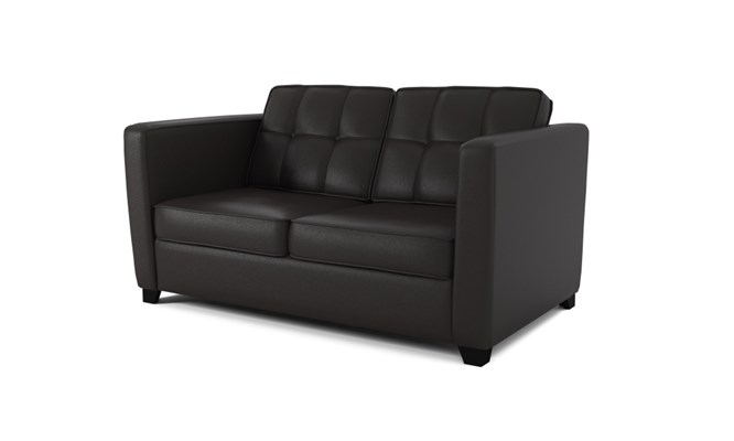 Greenwich 2 seater button back - black