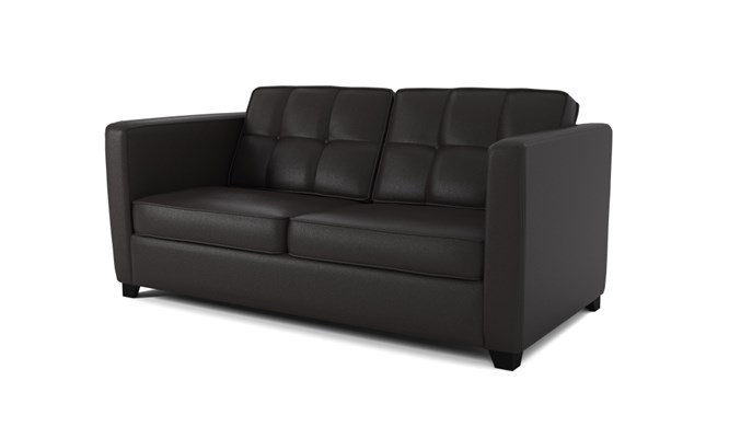 Greenwich 3 seater button back - black