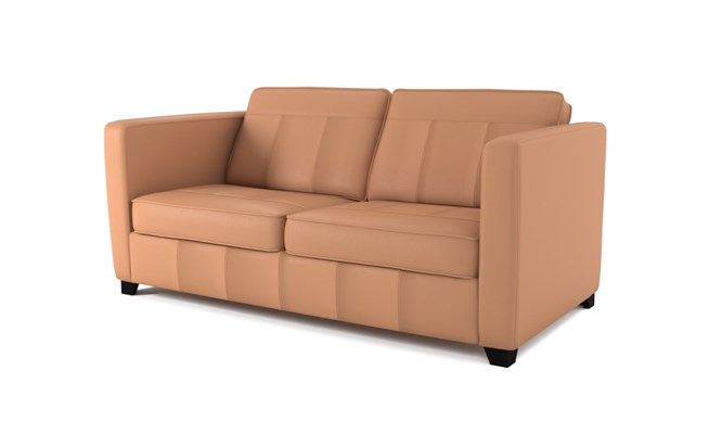 Greenwich 3 seater plain back - mahogany