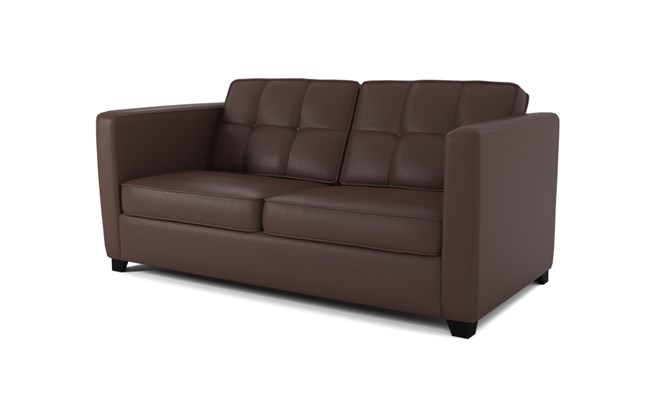 Greenwich 3 seater button back - mahogany