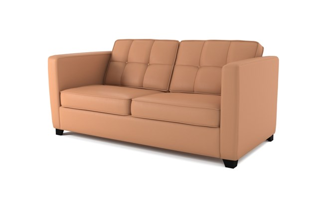 Greenwich 3 seater button back - whiskey