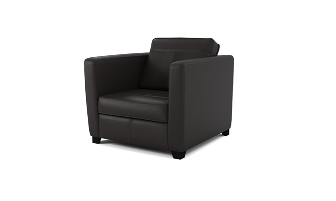 Greenwich arm chair plain back - black