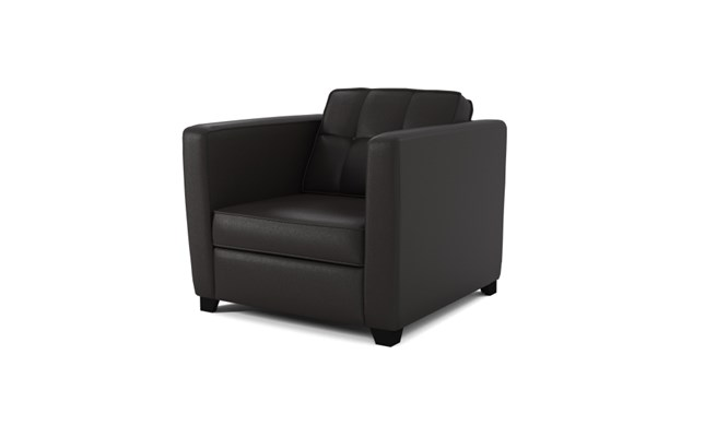Greenwich arm chair button back - black
