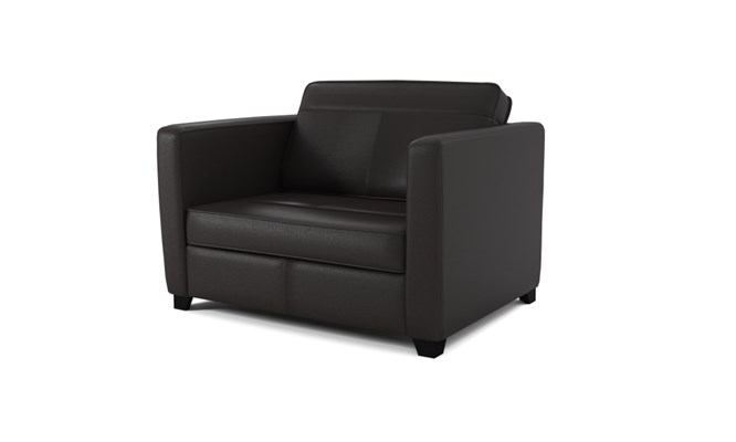 Greenwich chair bed plain back - black