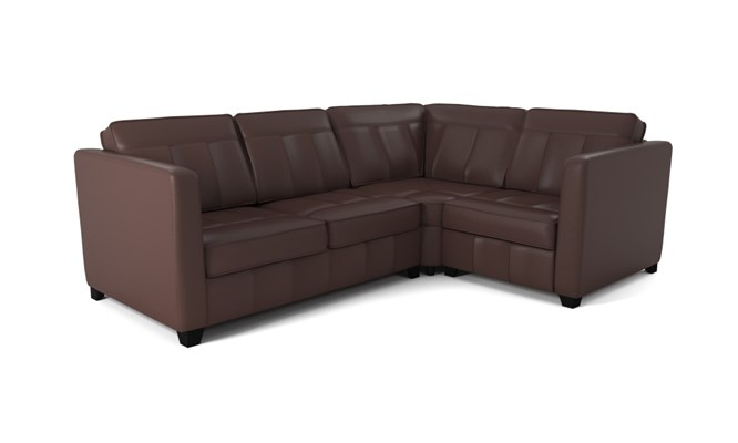 Greenwich corner sofa plain back - mahogany