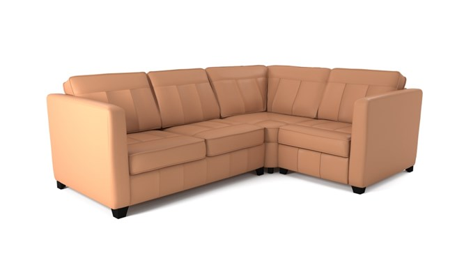 Greenwich corner sofa plain back - whiskey