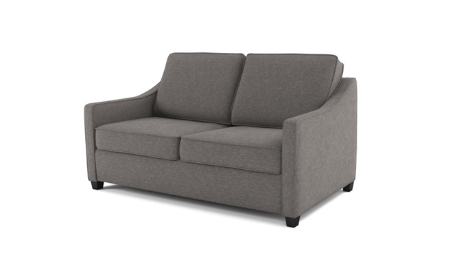 Lynton 2 seater plain back - charcoal