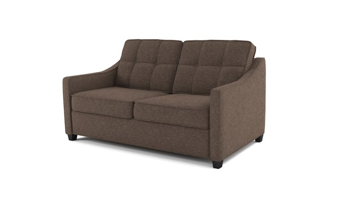 Lynton 2 seater button back - abbeyville mocha