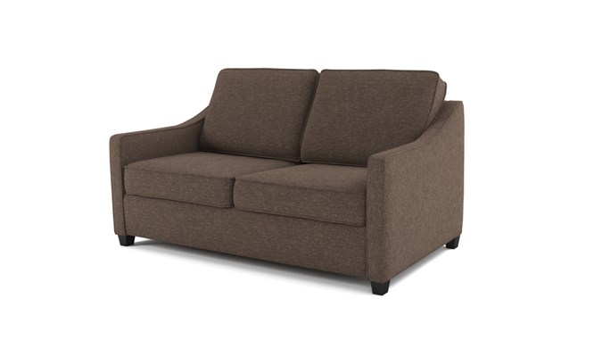 Lynton 2 seater plain back - mocha