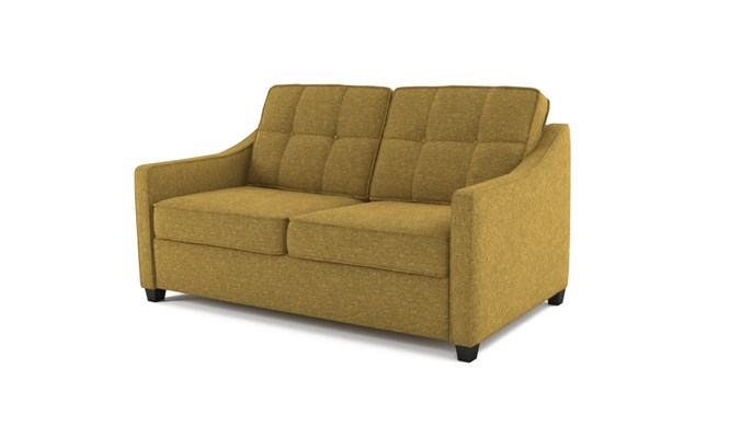 Lynton 2 seater button back - abbeyville lime