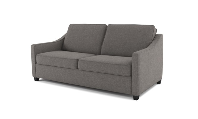 Lynton 3 seater plain back - charcoal