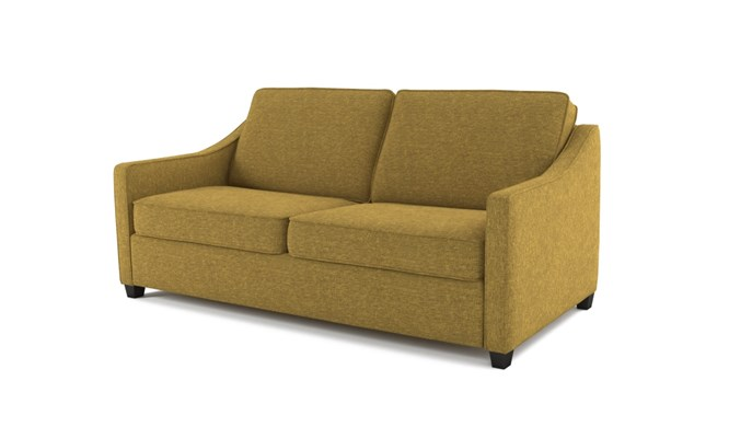 Lynton 3 seater plain back - lime