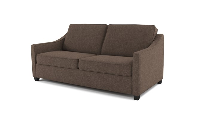 Lynton 3 seater plain back - mocha