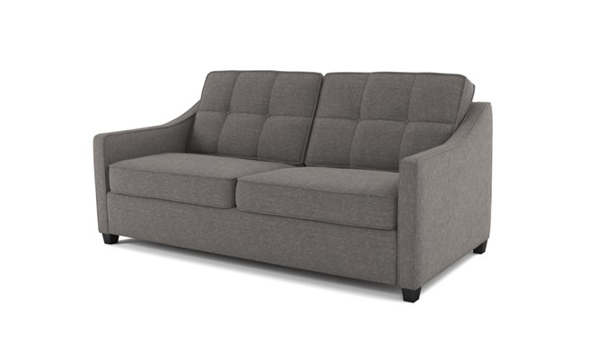 Lynton 3 seater button back - abbeyville charcoal