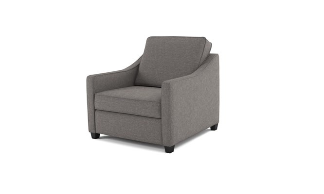 Lynton arm chair plain back - charcoal