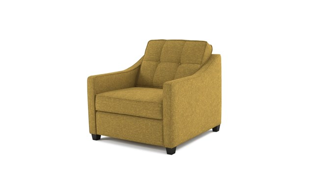 Lynton arm chair button back - abbeyville lime