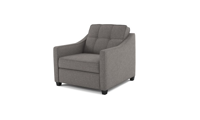 Lynton arm chair button back - abbeyville charcoal