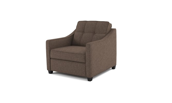 Lynton arm chair button back - abbeyville mocha